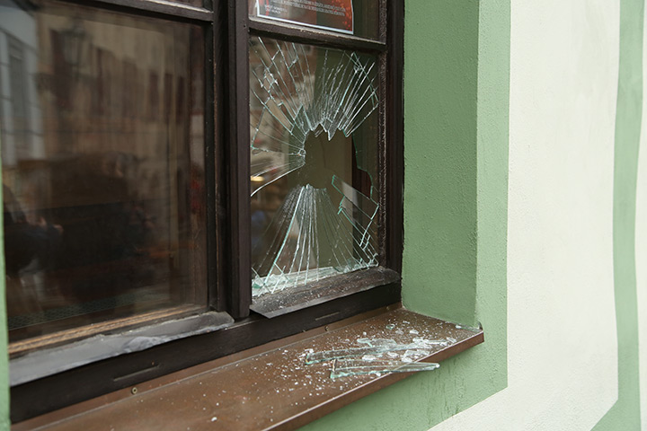 A2B Glass are able to board up broken windows while they are being repaired in Cranford.